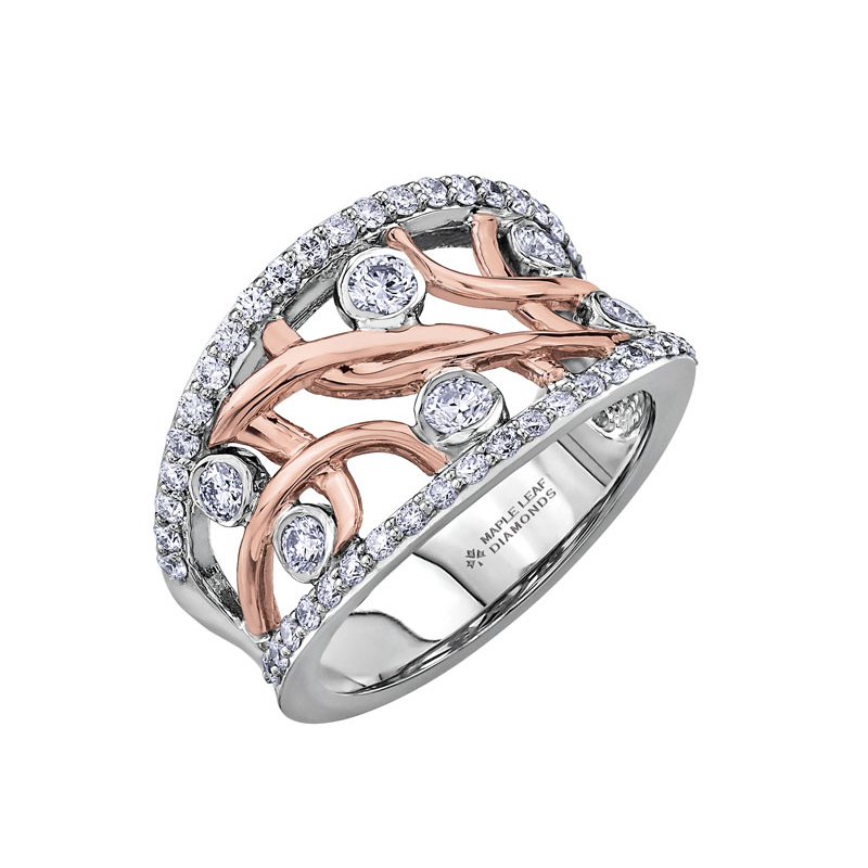 ML400 Ladies Rose gold & White gold Ring – Aitkens Jewellers